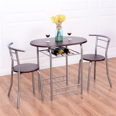 kitchen bistro table set 3 pcs bistro dining set table and 2 chairs kitchen pub
