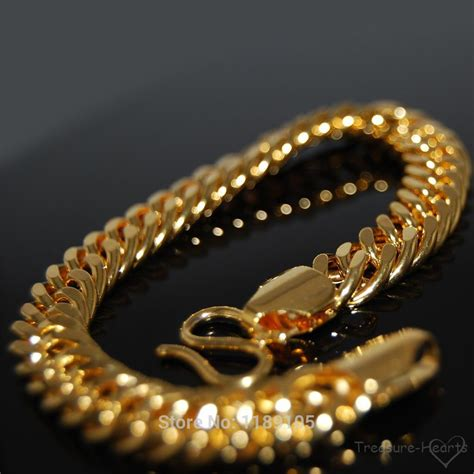 aliexpress buy real brand italina rings for men hot 9 quot italian mens bracelets 18k 18ct real yellow gold filled