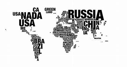 Map Word Cloud 4k Words Resolution Animation