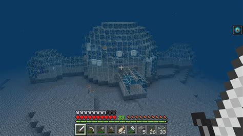 finished  underwater base  survival minecraft