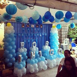 Baby boy blue Baptism Party Ideas Photo 5 of 5 Catch