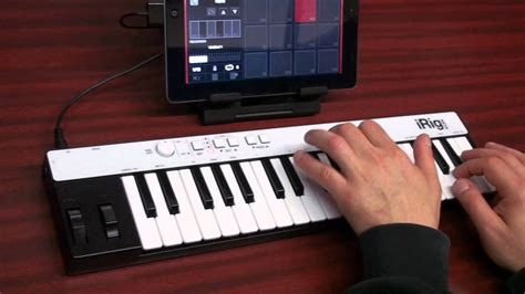 recording   ipad  irig keys universal portable keyboard  sampletank ios youtube
