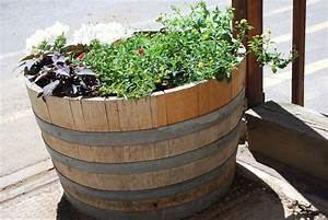 Diy Wine Barrel Planters Ideas » Home Decorations Insight