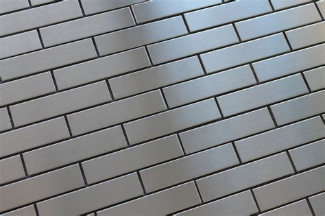 stainless steel mosaic stainless steel 1x4 brick mosaic tiles rocky point tile glass and mosaic tile store