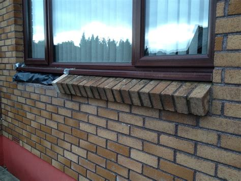 brick window sill repair bricklaying job  bodmin