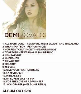 "Tracklist for Demi Lovato's ""Unbroken"" - Oh No They Didn't!"