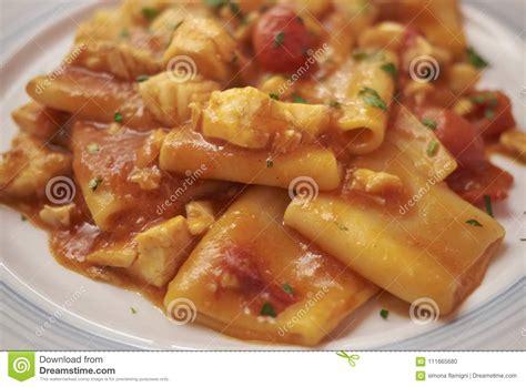 paccheri grouper pasta tomato sauce