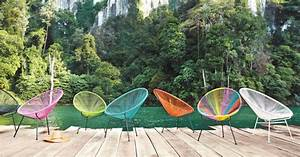 Déco Exterieur Jardin : chaises et table de jardin aux couleurs vives pour un ete ~ Farleysfitness.com Idées de Décoration