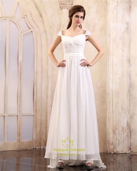 Cap Sleeve Bridesmaid Dresses Floor Length by White Cap Sleeve Dress For Cap Sleeve Bridesmaid