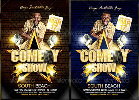 comedy show flyer templates sample templates