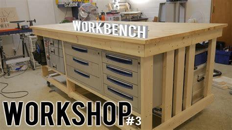 workshop part  diy workbench  wheels storage