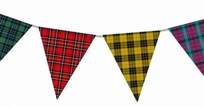 Tartan Bunting Scottish Fabric Decorations Things Display
