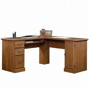 L Shaped Computer Desk in Milled Cherry - 418648