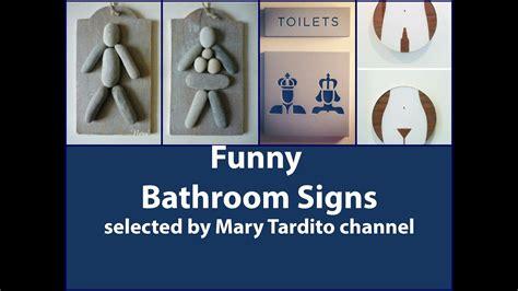 creative  funny bathroom signs youtube