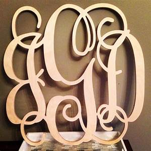 24 inch wood monogram letter great for wedding door and for Door monogram letters