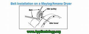 Belt Installation On A Maytag Amana Dryer