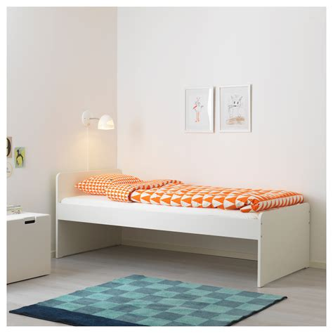 siege lit släkt cadre de lit av mod siège rangt blanc gris 90x200 cm ikea