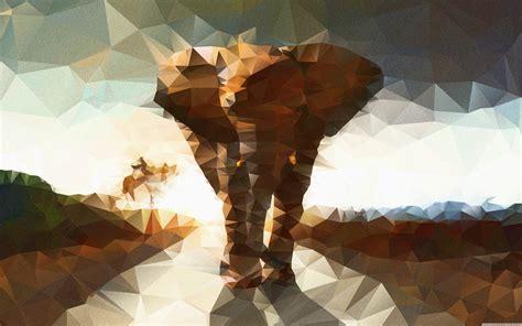 Animal Illustration Wallpaper - elephant polygon illustration vip wallpaper hd wallpapers