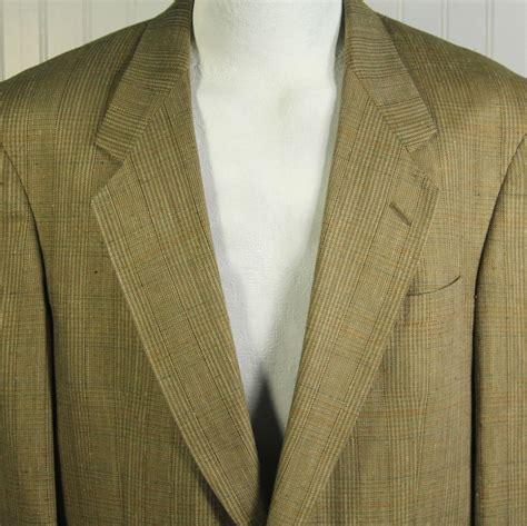 vtg austin reed london mens  jacket  silk glen plaid