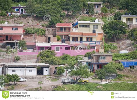 traditional colonial house plans houses on hillside stock image image 10822721