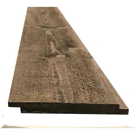 Reclaimed Shiplap Boards by 5 16 In X 3 5 8 In X Random Lengths Butternut Brown