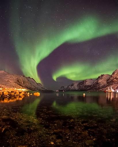 Aurora Borealis Northern Lights Polar Norway Ersfjordbotn