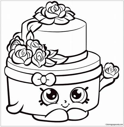 Shopkins Cake Pages Coloring