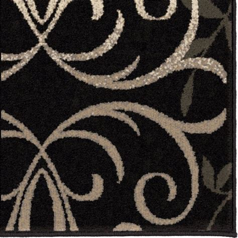 Patterned Area Rugs by Area Rug Black White Grey Pattern Rugs Floral Decor Floor