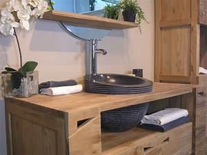 stunning meuble vasque salle de bain rustique pictures With meuble vasque salle de bain rustique