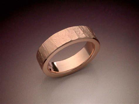 textured  rose gold wedding band metamorphosis