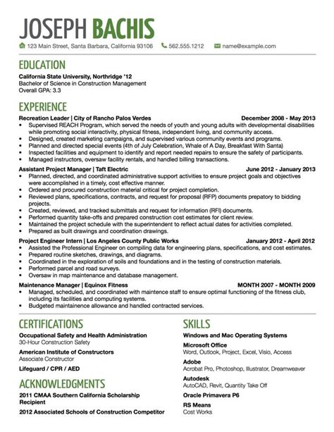 Accents On Resume by Resume Design Sle 4 Business