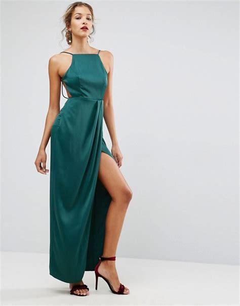 asos drape dress asos asos drape front delicate back satin maxi dress