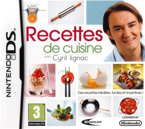 cyril lignac livre de cuisine recettes de cuisine avec cyril lignac sur nintendo ds