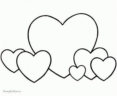 Coloring Heart Pages Printable Valentine Shape Hearts