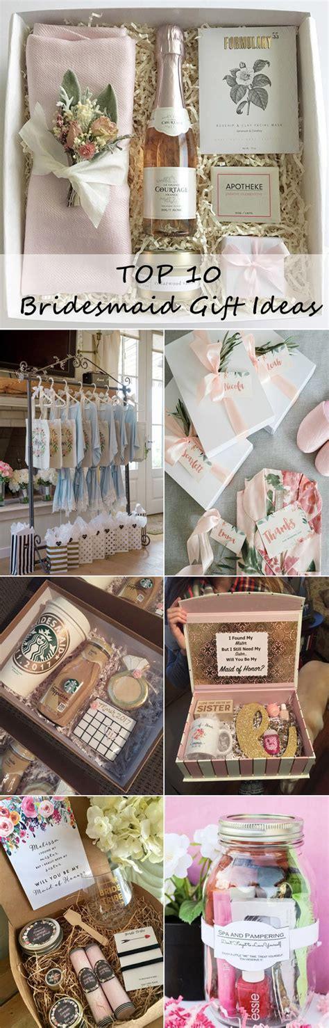 top  bridesmaid gift ideas  girls  love