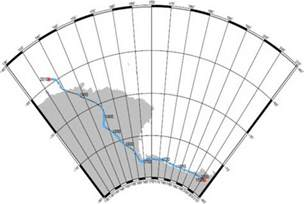 Magnetic South Pole Map