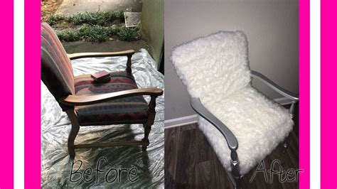 Diy Faux Fur Glam Accent Chair  Glamcraft'd Youtube