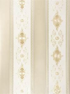 satintapete barock streifen hermitage glanz creme 6830 69 With balkon teppich mit tapete gold barock