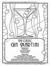 Coloring Cocktail Martini Printable Recipe Gin Pages Adult Recipes Cocktails Instant Party Etsy Cool Adults Colouring Fun Pdf Getcolorings sketch template