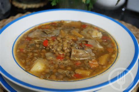 ••• simak aneka resep sop berikut ini, yuk! Resep Sop Lentil : Resep Sup Kacang Lentil Merah Hidangan ...