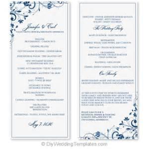 tea length wedding programs templates free wedding program template instant edit