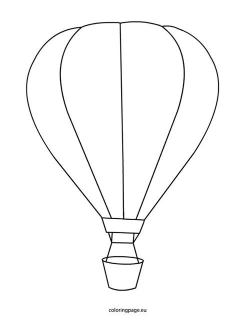 hot air balloon coloring page coloring page