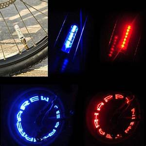 bike wheel spokes light bicycle wheel valve tire tyre led With outdoor letter lights