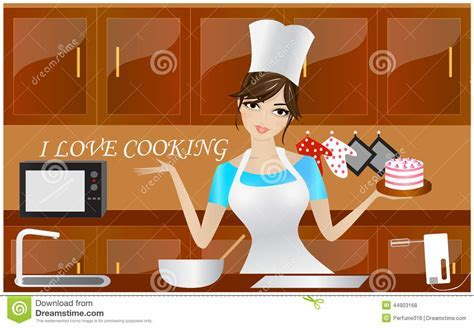 I Love Cooking Stock Illustration   Image: 44903168