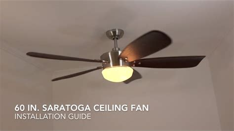 installing ceiling fan with remote how to install the harbor breeze 60 in saratoga ceiling