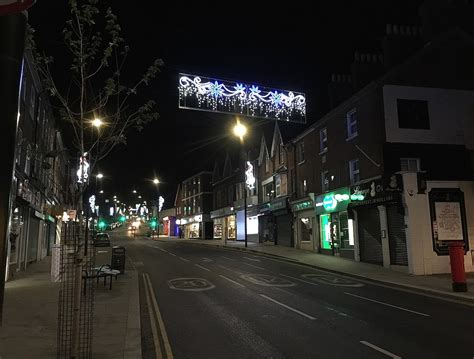 christmas lights sparkle in uckfield high street and shops