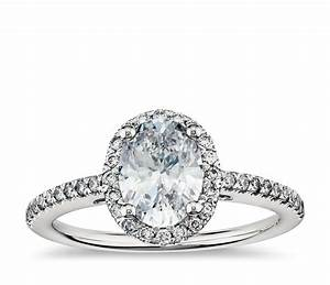 oval halo diamond engagement ring in platinum blue nile With oval halo wedding rings