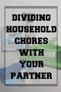 Dividing Household Chores Chart How To Divide Household Chores With Your Partner Husband