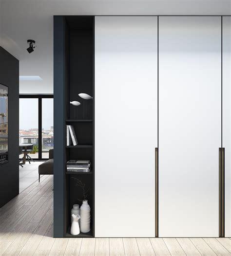 Modern Wardrobe by Design A Chic Modern Space Around A Brick Accent Wall