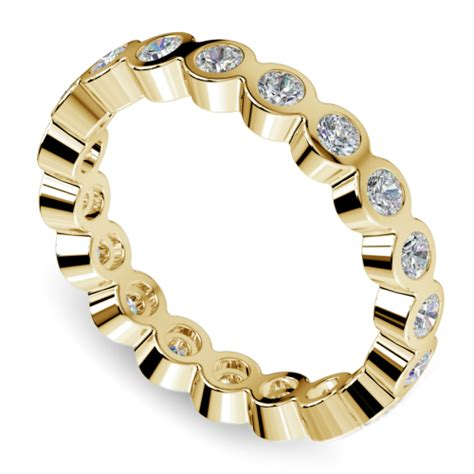 Bezel Diamond Eternity Ring In Yellow Gold (1 Ctw. Swiss Watches. 22 Carat Gold Jewellery. Cheap Diamond Stud Earrings. Round Emerald. Stoneless Engagement Rings. Discount Diamond. Italian Jewelry. I Phone Watches